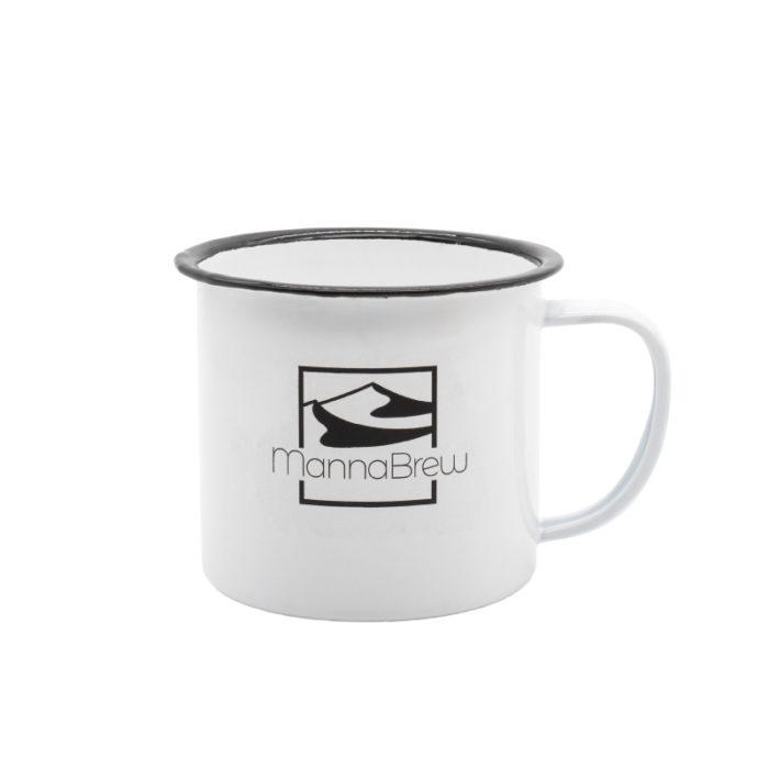 MannaBrew Enamel Mug - White